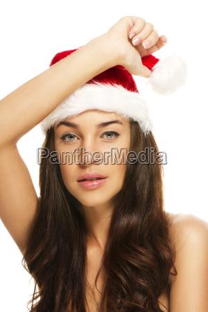 portrait of a beautiful brunette woman