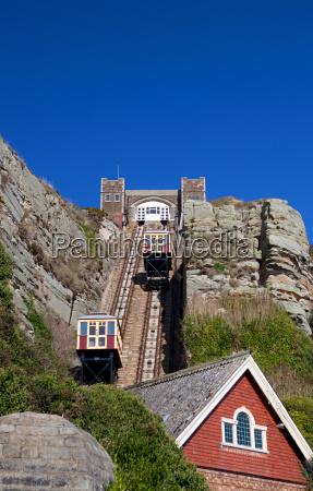treno funicolare tram cliff railway hastings