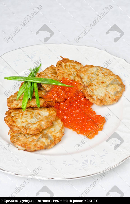 pancakes, with, red, caviar - 5923133