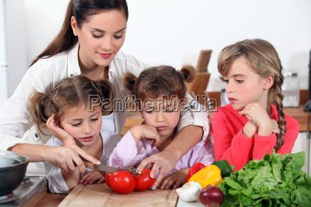madre e le sue figlie che
