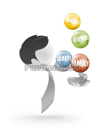 equilibrio giocoliere giocoleria hobby lavoro famiglia