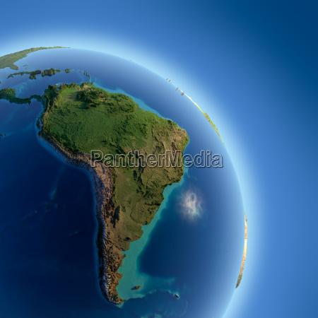 spazio luce del sole globo terra