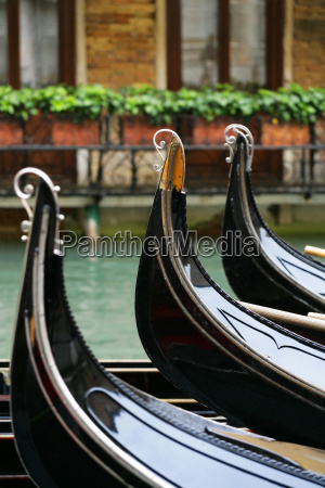 waiting gondolas in venice