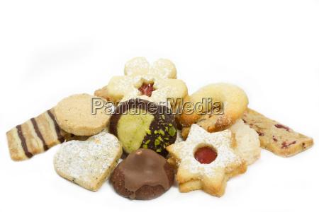 selezione di biscotti di natale