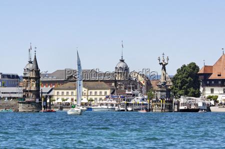 citta statua porto lago di costanza