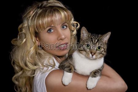 donna donne gatti giovani gatto gatta