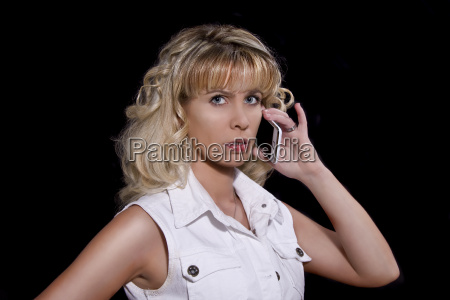 donna donne telefono cellulare giovani biondo
