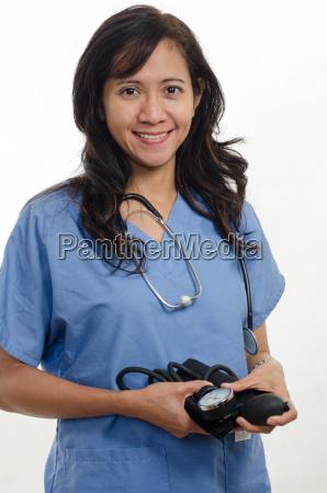 attraente asiatico filippino infermiera medico sanitario