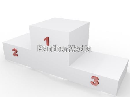 podio del vincitore 3d imagen concetto