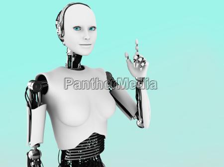 robot donna che ha unidea