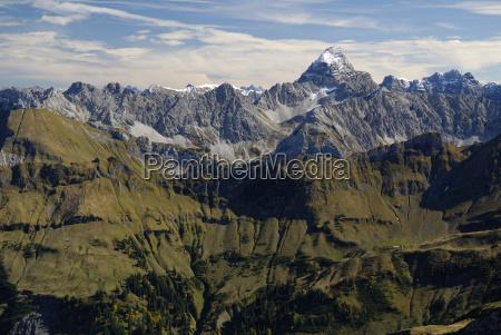 vista dalla cima del nebelhorn fino