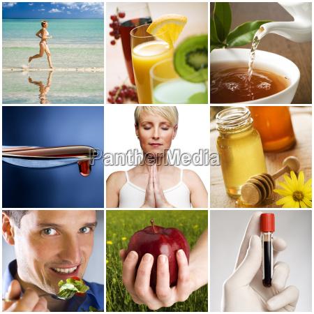salute stile di vita collage sano