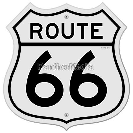 segnale route 66