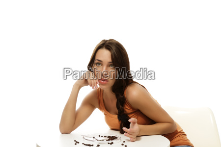 young woman missing her coffee