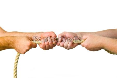 mano mani potente concorrenza contesa rivalita