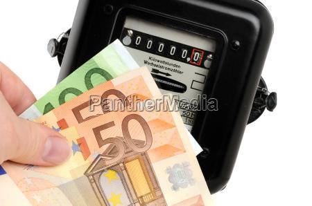 euro potenza elettricita energia elettrica contatore