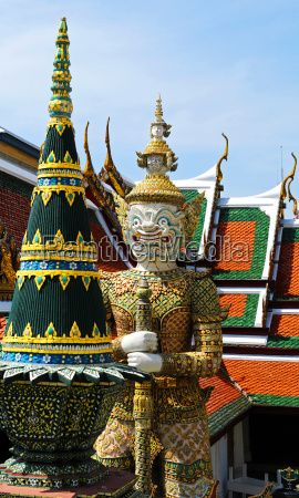 tempio thailandia bangkok guardiano