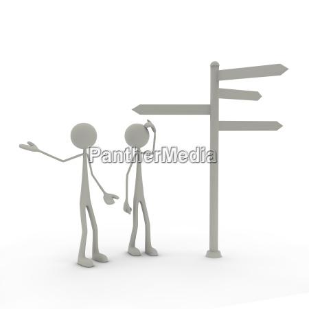 astratto frecce decisione fumetto modello valutare
