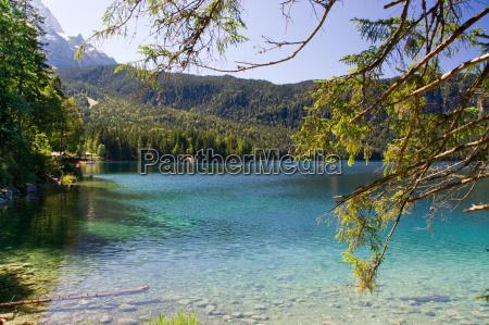 eibsee lago di montagna sogno idillio
