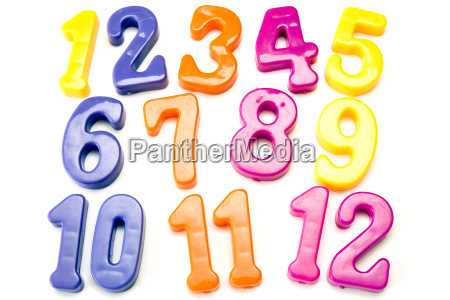 plastic color numbers