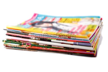 giornale tageblatt oggetti rivista pila stampa