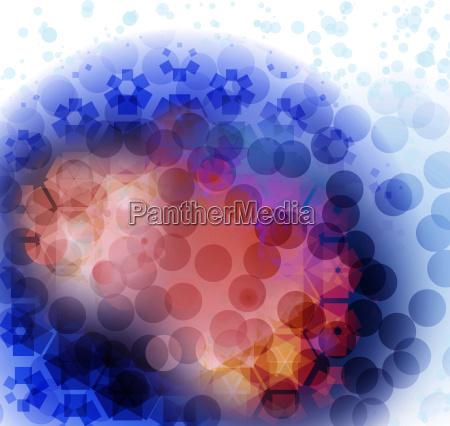 grafico illustrazione cellula virus medicina particella