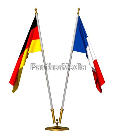 bandiere di germania e francia
