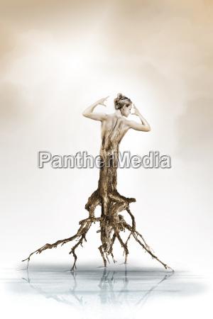 donna donne esistere vivere arte albero