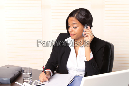 woman at work in the office