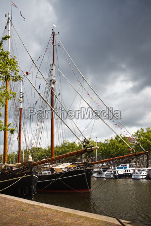 two old sailingships in port