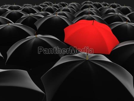 unico ombrello rosso
