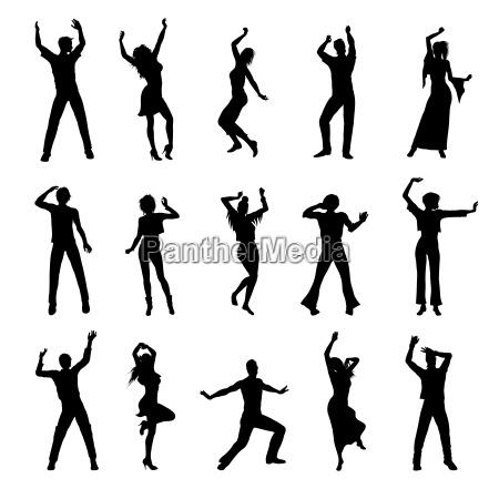 persone danzanti sagome