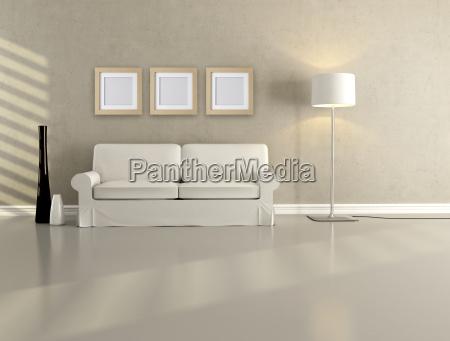 soggiorno minimalista