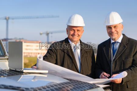 architetto sviluppatore piano di costruzione hold