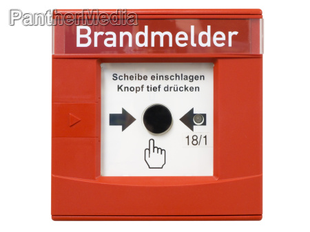 interruttore allarme antincendio chiamata di emergenza