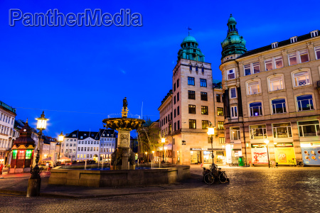 fountain and gamelltorv square at the