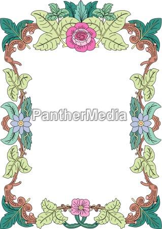 fiore fioritura ornamento angolo bordo struttura