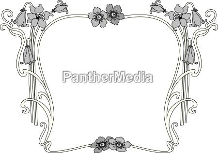 foglia fiore fioritura ornamento angolo bordo