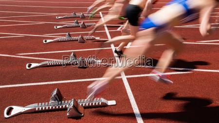 inizio di sprint in movimento vago