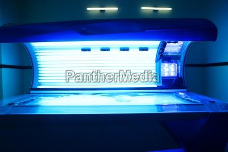 abbronzatura solarium macchina leggera colore blu