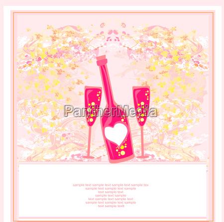 bicchiere alcool festa mappa invito scheda