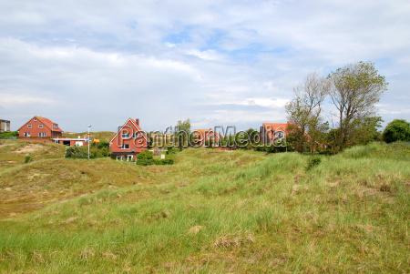 duna germania prato villaggio paesaggio natura