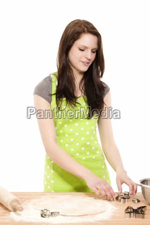 young woman at the bake cookie
