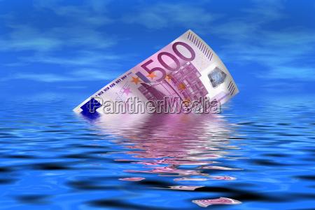 onde euro banconota luce splendore banconota