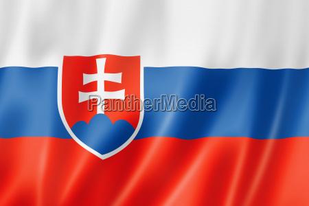 slovacchia bandiera tessile satin