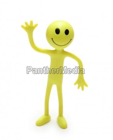 figura di smiley isolata su bianco