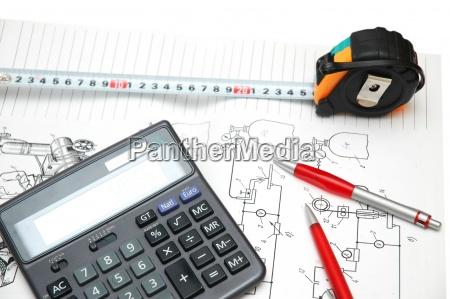 blu casa costruzione ufficio progettazione concetto