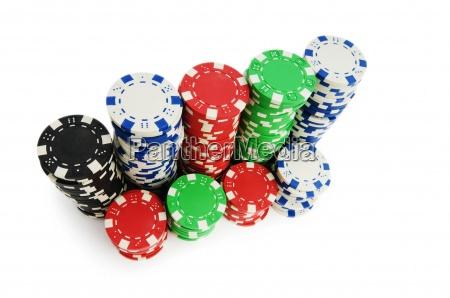 fiches del casino isolato su sfondo