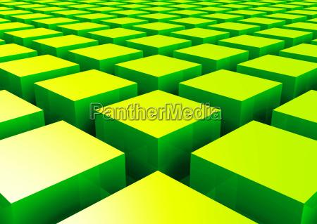 struttura 3d cuboid verde 2