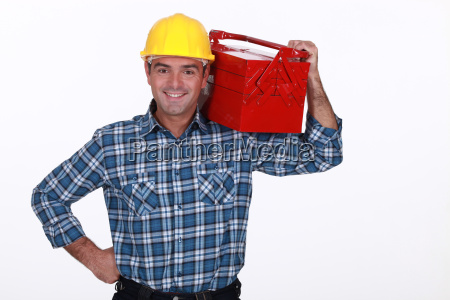 man with a toolbox on his